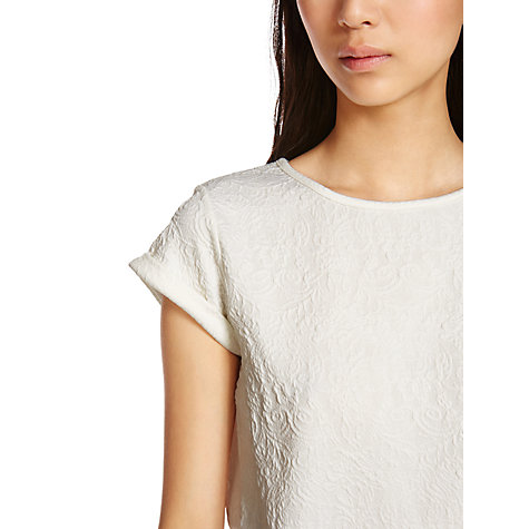 Buy Warehouse Floral Jacquard Tee Online at johnlewis.com