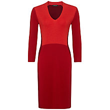 Buy Jaeger Colour Block Dress, Multi Red Online at johnlewis.com