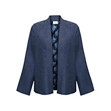 Buy East Cross Dye Linen Jacket, Indigo Online at johnlewis.com