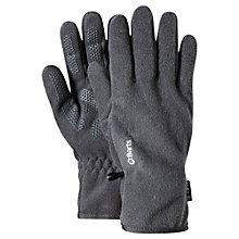 Buy Barts Fleece Gloves, Heather Grey Online at johnlewis.com