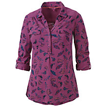 Buy Fat Face Brokenhurst Butterfly Shirt, Washed Pink Online at johnlewis.com