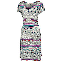 Buy Fat Face Emily Aztec Sketch Dress, Ivory Online at johnlewis.com
