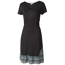 Buy Fat Face Emily Border Dress, Phantom Online at johnlewis.com