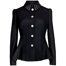 Buy Ted Baker Embellished Peplum Jacket, Black Online at johnlewis.com
