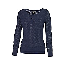 Buy Fat Face Daisy Crochet Jumper Online at johnlewis.com