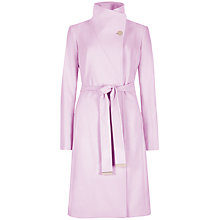Buy Ted Baker Belted Wrap Coat, Baby Pink Online at johnlewis.com