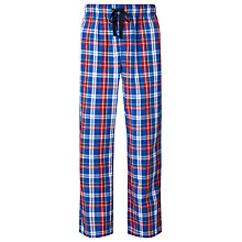 Buy John Lewis Matthew Check Lounge Pants, Blue/Red Online at johnlewis.com