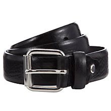 Buy Selected Homme Clarence Leather Belt, Black Online at johnlewis.com