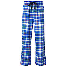 Buy John Lewis Woven Cotton Check Lounge Pants, Blue/Green Online at johnlewis.com