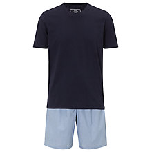 Buy John Lewis Stripe Shorts and T-Shirt Lounge Set, Navy/Blue Online at johnlewis.com