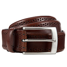 Buy John Lewis Mii Brogue Belt, Brown Online at johnlewis.com