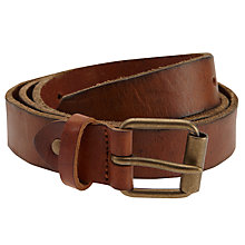 Buy Selected Homme Andre Leather Belt, Brown Online at johnlewis.com