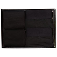 Buy Selected Homme Trunk and Sock Set, Black Online at johnlewis.com
