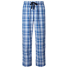 Buy John Lewis Woven Cotton Check Lounge Pants, Blue/White Online at johnlewis.com