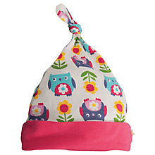 Buy Frugi Baby's Owl Lovely Hat, White/Multi Online at johnlewis.com