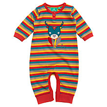 Buy Little Green Radicals Stag & Stripe Bodysuit, Multi Online at johnlewis.com