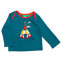 Buy Little Green Radicals Long Sleeve Teepee T-Shirt, Blue Online at johnlewis.com