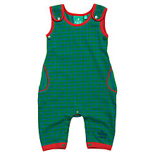 Buy Little Green Radicals Diamond Pattern Dungarees, Green Online at johnlewis.com