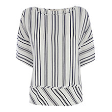 Buy Wishbone Sylvie Silk Stripe Top, Cream / Blue Online at johnlewis.com