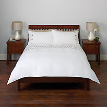Buy John Lewis Embroidered Circles Duvet Cover and Pillowcase Set Online at johnlewis.com
