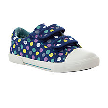 Buy John Lewis Girl Ellie Spot Canvas Trainers, Navy/Multi Online at johnlewis.com