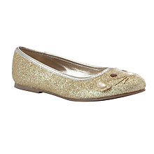 Buy John Lewis Glitter Cat Face Ballerina Pumps Online at johnlewis.com