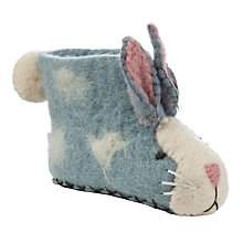 Buy Sew Heart Felt Rory Rabbit Slippers, Yellow Online at johnlewis.com