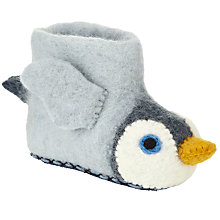 Buy Sew Heart Felt Monty Penguin Slippers, Grey Online at johnlewis.com