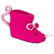Buy Sew Heart Felt Melissa Mouse Slippers, Bright Pink Online at johnlewis.com