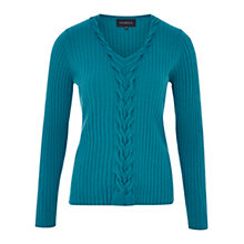 Buy Viyella Plait Front Jumper, Kingfisher Online at johnlewis.com