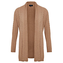 Buy Viyella Cable Detail Cardigan, Camel Online at johnlewis.com