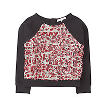 Buy Jigsaw Junior Girls' Front Sequins Sweatshirt, Multi Online at johnlewis.com