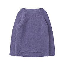 Buy Jigsaw Junior Dip hem Knit Jumper, Violet Online at johnlewis.com