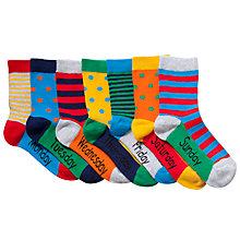 Buy John Lewis Boy Days of the Week Socks, Pack of 7, Multi Online at johnlewis.com