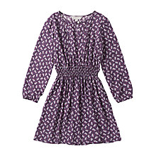 Buy Jigsaw Junior Girls' Repeat Owl Print Dress, Purple Online at johnlewis.com
