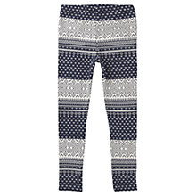 Buy Jigsaw Junior Girls' Jacquard Leggings, Navy Online at johnlewis.com