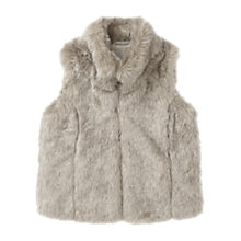 Buy Jigsaw Junior Girls' Faux Fur Gilet, Stone Online at johnlewis.com