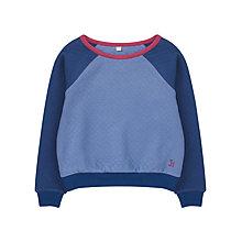 Buy Jigsaw Junior Girls' Quilted Sweatshirt, Blue Online at johnlewis.com