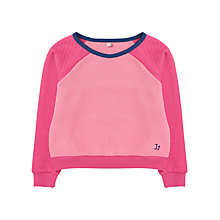 Buy Jigsaw Junior Girls' Quilted Jumper, Pink Online at johnlewis.com
