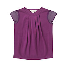 Buy Jigsaw Junior Girls' Chiffon Sleeve T-Shirt Online at johnlewis.com