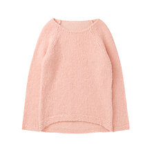 Buy Jigsaw Junior Girls' Chunky Knit Jumper, Blush Online at johnlewis.com