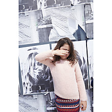 Buy Jigsaw Junior Girls' Chunky Knit Jumper, Pink Online at johnlewis.com