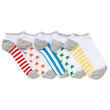 Buy John Lewis Boy Stars & Stripes Trainer Socks, Pack of 5, Multi Online at johnlewis.com