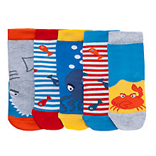 Buy John Lewis Boy Sea Creature Socks, Multi Online at johnlewis.com