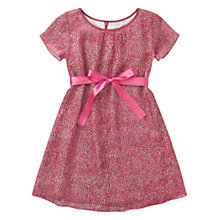 Buy Jigsaw Junior Girls' Velvet Spot Dress, Red Online at johnlewis.com