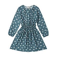 Buy Jigsaw Junior Girls' Repeat Deer Print Dress, Teal Online at johnlewis.com