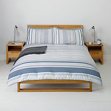 Buy John Lewis Salcombe Seersucker Stripe Duvet Cover and Pillowcase Set Online at johnlewis.com