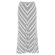Buy Wishbone Constance Stripe Skirt, White Online at johnlewis.com