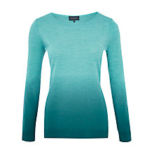 Buy Viyella Ombre Merino Wool Jumper, Peacock Online at johnlewis.com