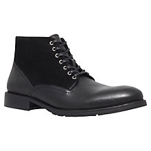 Buy KG by Kurt Geiger Pearce Leather Boots, Black Online at johnlewis.com